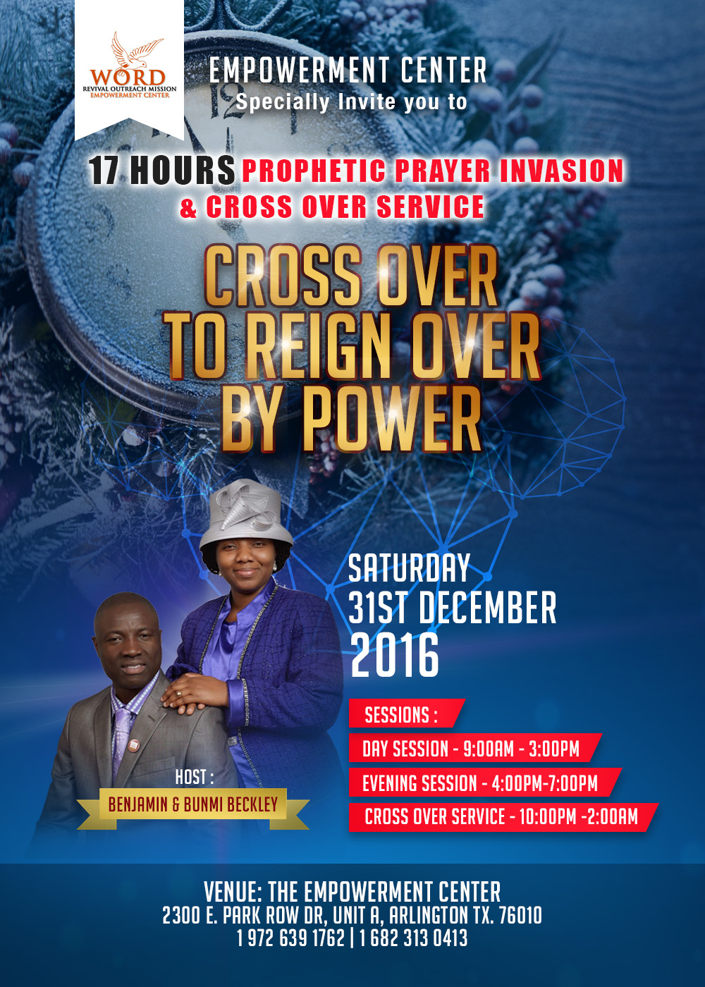 Word Revival Outreach Mission – 17 HOURS YEAR END PRAYER INVASION
